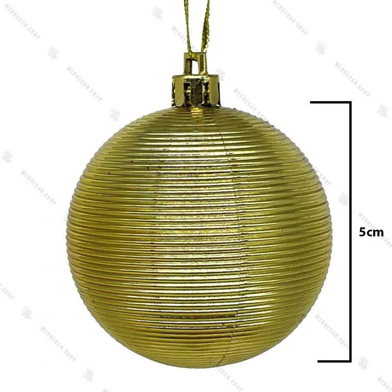 آویز کریسمس گوی مدل مومیایی طلایی