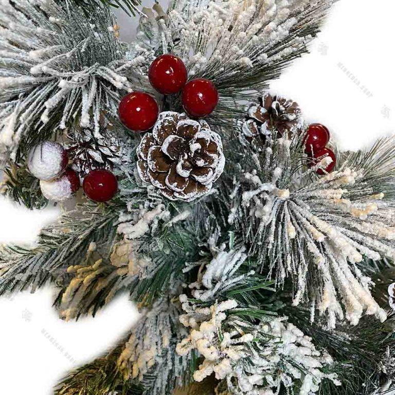 درخت کریسمس پهن برگ مدل برفی ۹۰ سانتی