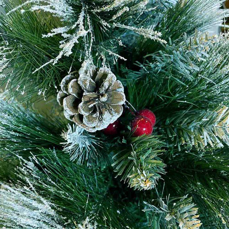 درخت کریسمس برگ سوزنی مدل برفی ۹۰ سانتی
