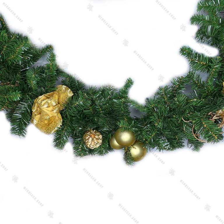 ریسه درختی مدل دیوارکوب طلایی