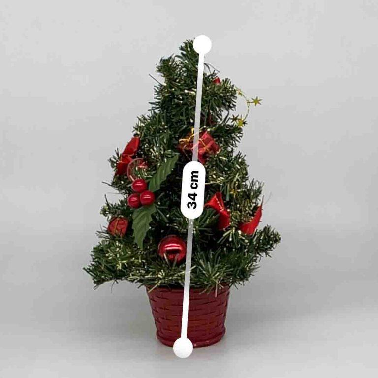 سبد درخت کریسمس تزیین شده