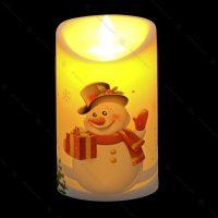 شمع پلاستیکی طرح آدم برفی
