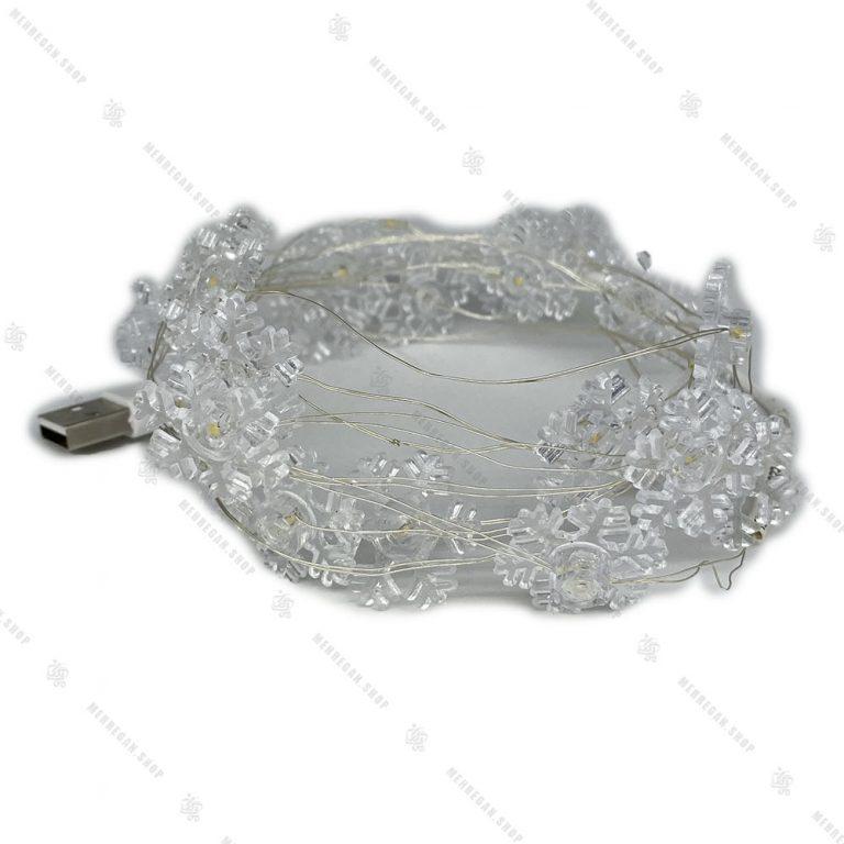 ریسه تزئینی USB دار مدل برف