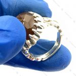 انگشتر نقره مردانه دست ساز عقیق یمنی
