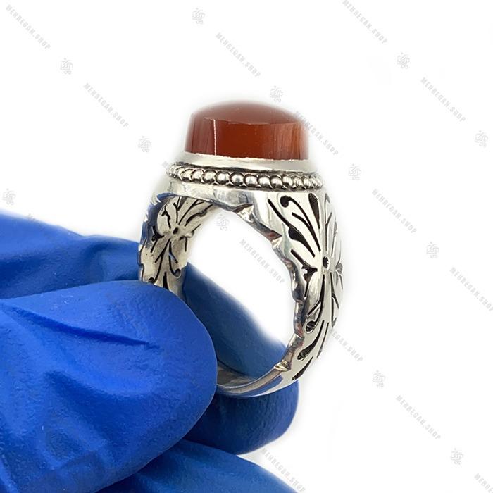 انگشتر عقیق سرخ دست ساز گوارسه زنی