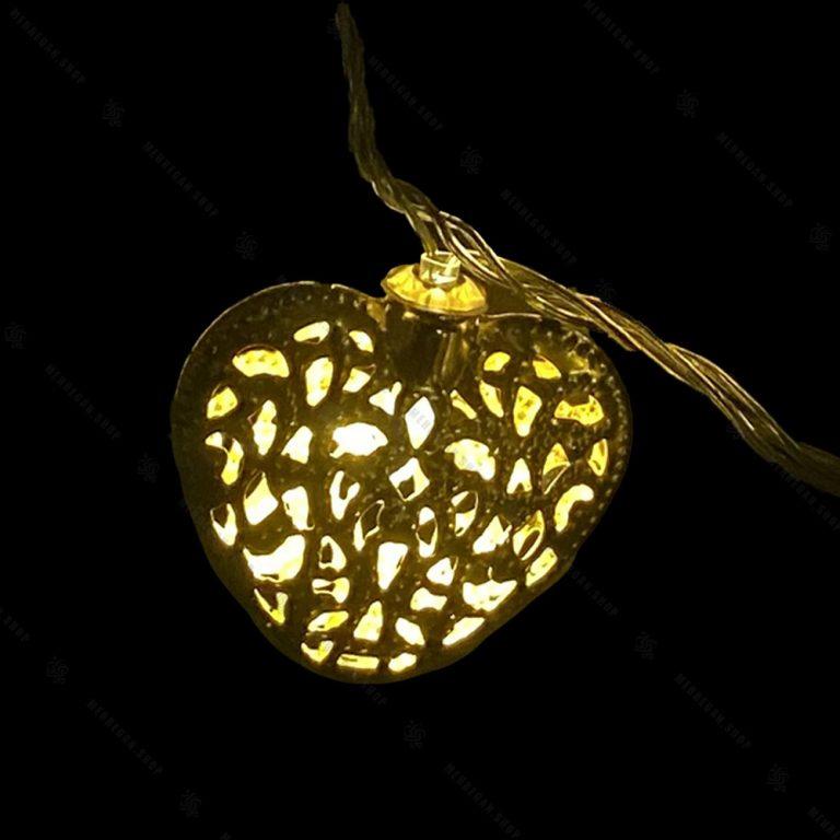 ریسه چراغ دار مدل قلب طلایی