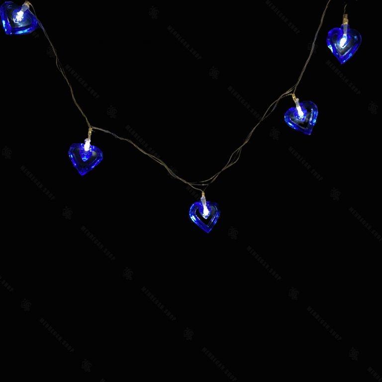 ریسه LED مدل قلب تو خالی آبی