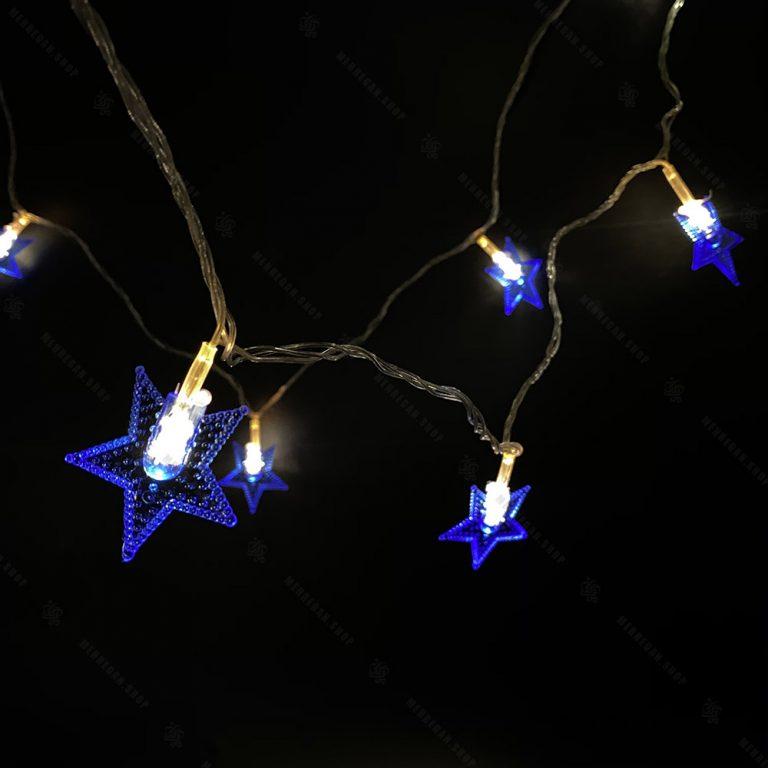 ریسه LED مدل ستاره حباب دار