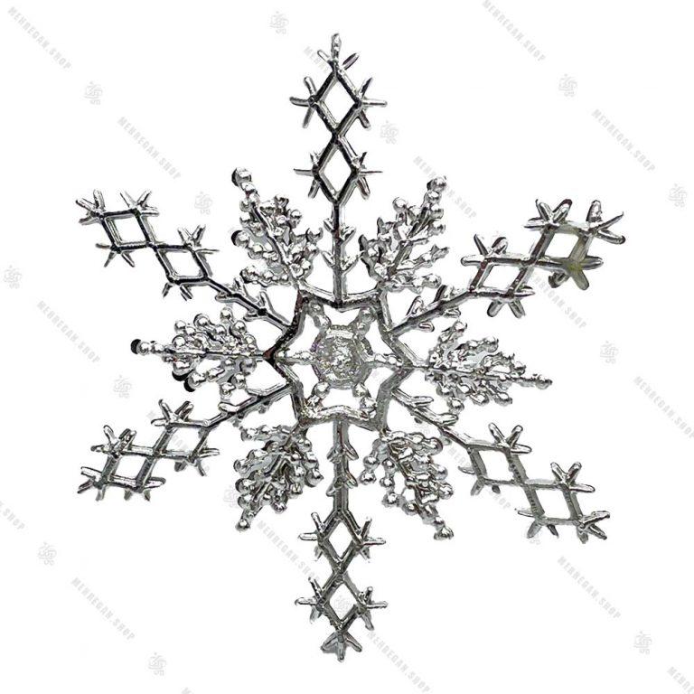 تک آویز کریسمس طرح ستاره نقره ای