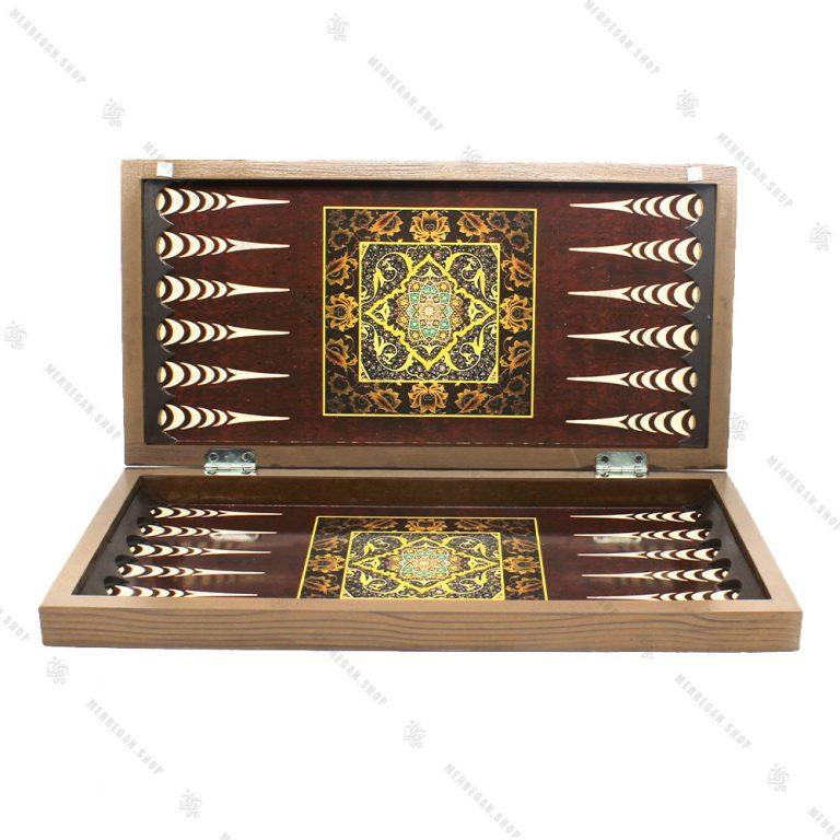 تخته نرد و صفحه شطرنج سه لایه چوبی