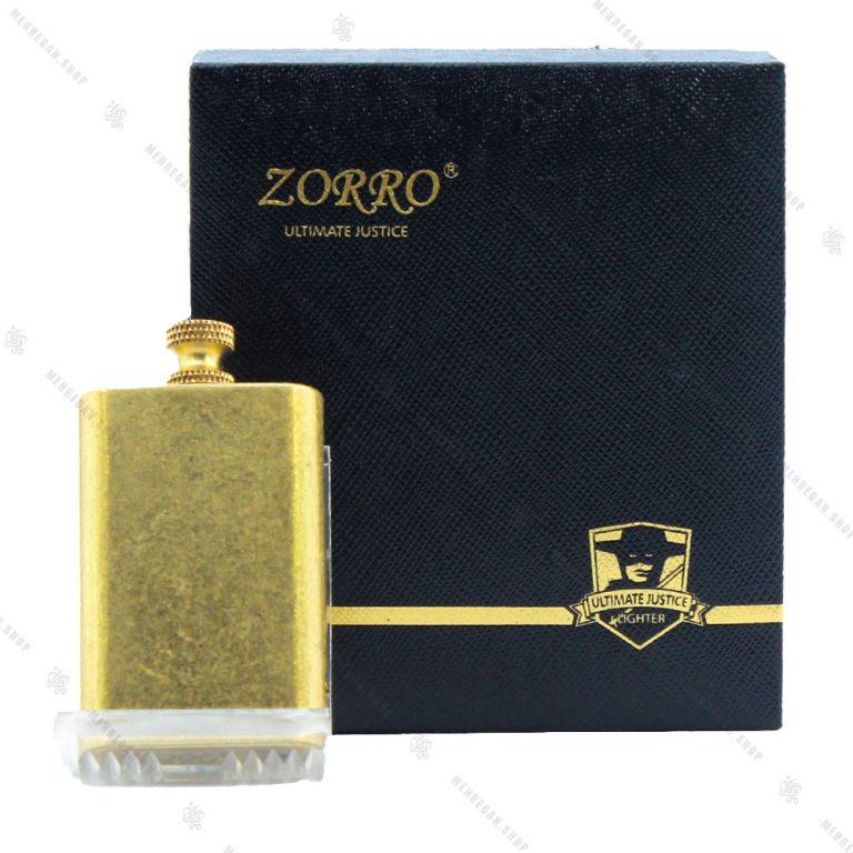 فندک بنزینی زورو Zorro مدل کبریتی