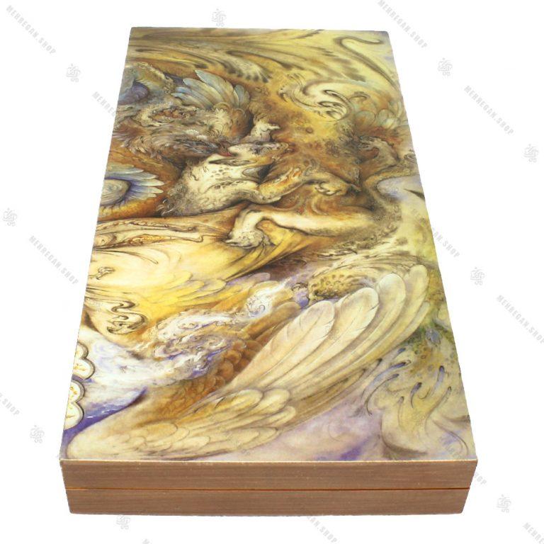 تخته نرد سه لایه چوبی طرح ابر و باد