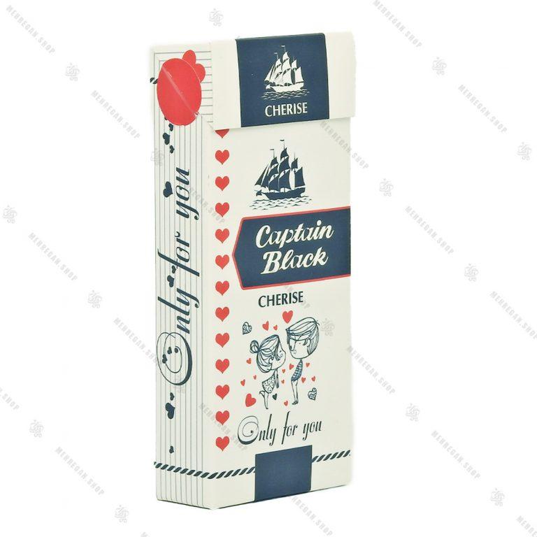 جعبه شکلات کادویی طرح سیگار کاپتان بلک سفید