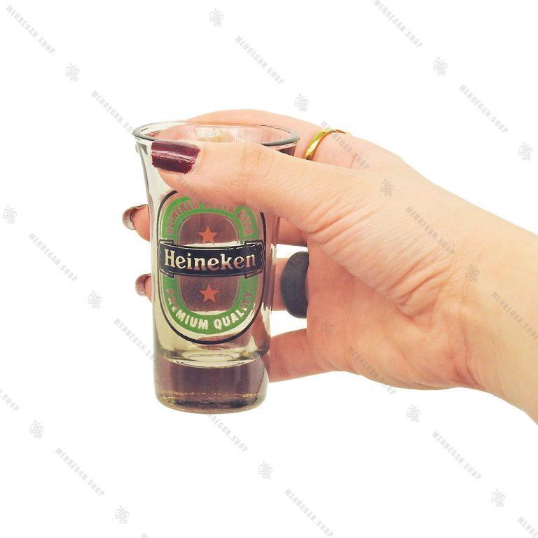 ست نوشیدنی شفاف ۶ عددی مدل Heineken