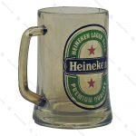 ماگ شیشه ای بلند طرح شفاف Heineken
