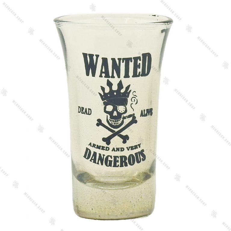 ست نوشیدنی بلند شفاف ۶ عددی مدل Wanted