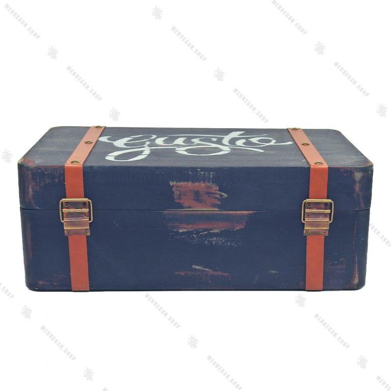 چمدان چوبی دکوری سایز متوسط مشکی