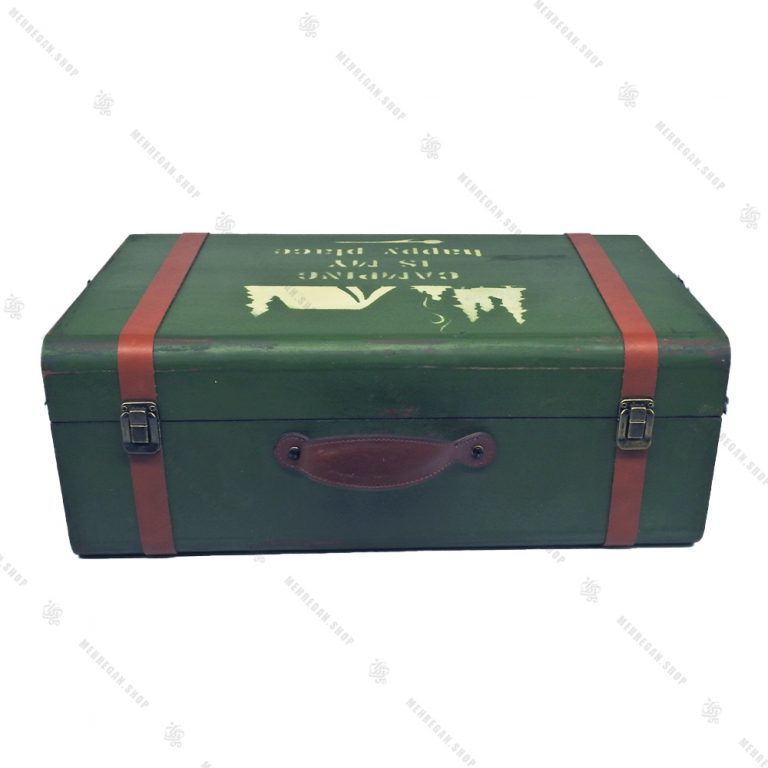 چمدان چوبی سایز بزرگ سبز