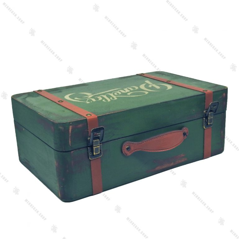 چمدان چوبی سایز متوسط سبز کله غازی