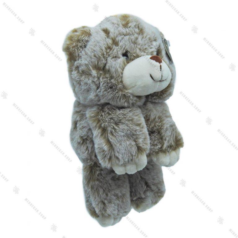 آویز عروسکی پولیشی خرس خاکستری بزرگ