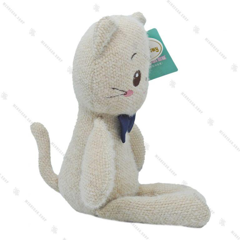 عروسک حوله ای طرح گربه طوسی