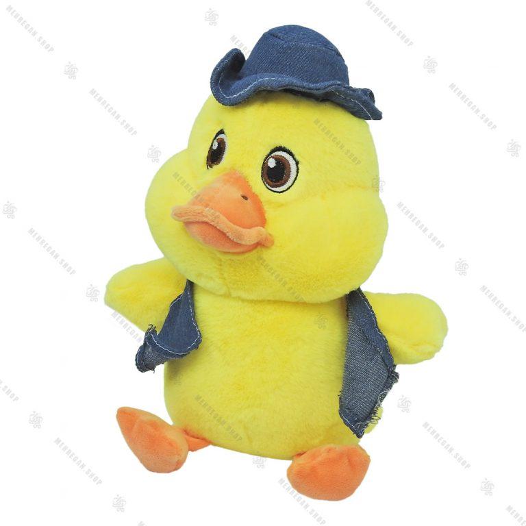 عروسک پولیشی اردک طلایی با کلاه