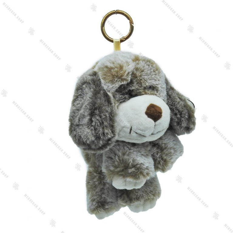 آویز عروسکی خرس خاکستری کوچک