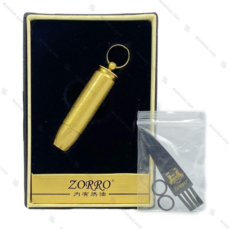 فندک بنزینی زورو Zorro طرح گلوله مدل SN-LIZO-015