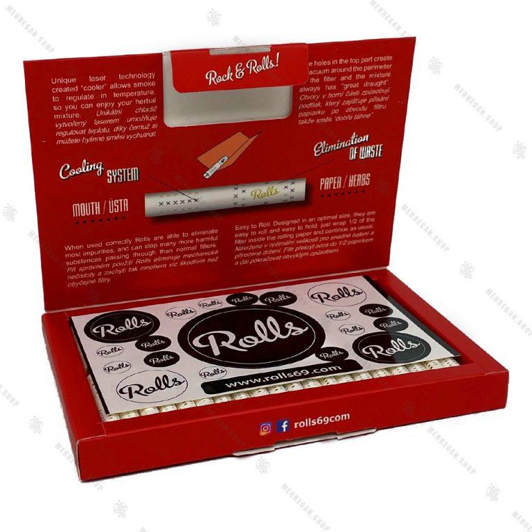 بسته ۸۰ عددی فیلتر سیگار آماده ضد سرفه رولز Rolls