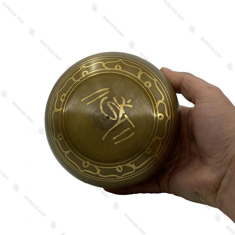 کاسه تبتی طلایی سایز ۳