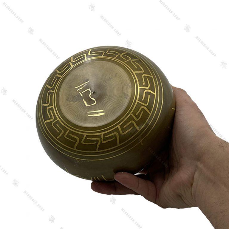 کاسه تبتی طلایی سایز ۴