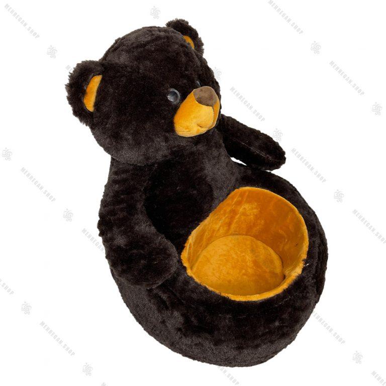 عروسک خرس نشسته سبددار کوچک