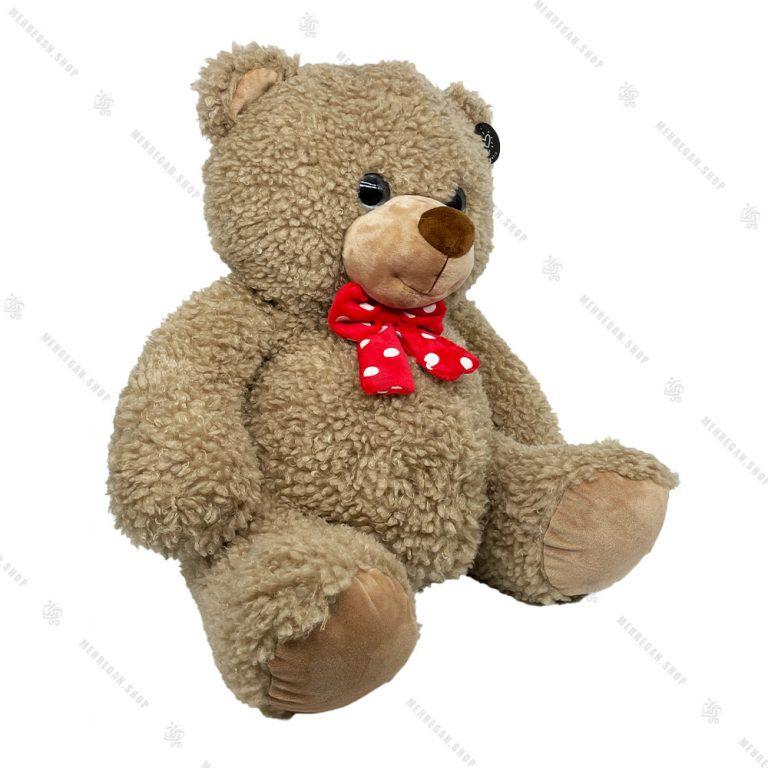 عروسک پولیشی طرح خرس قهوه ای