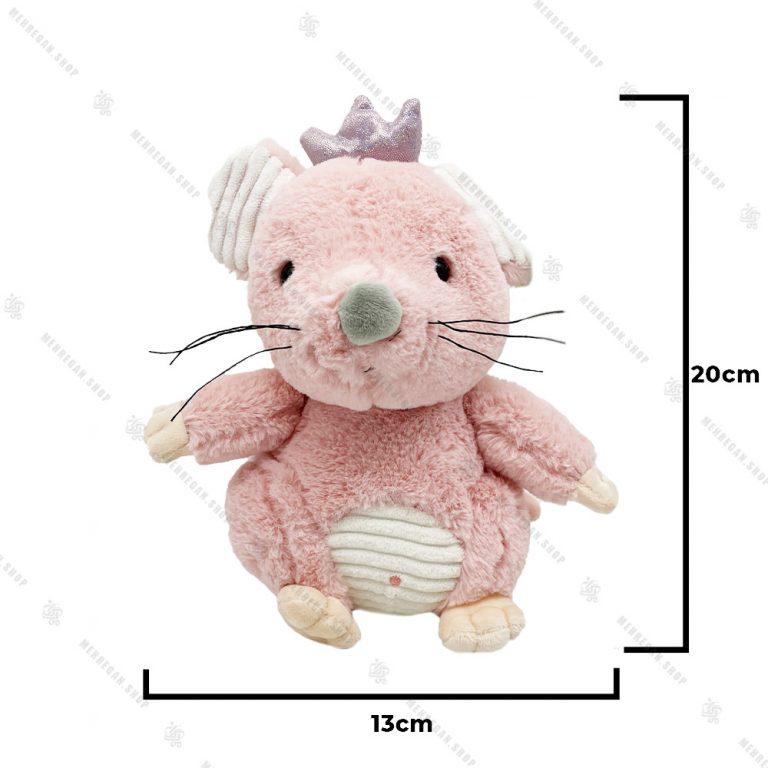 عروسک پولیشی موش تاج دار صورتی
