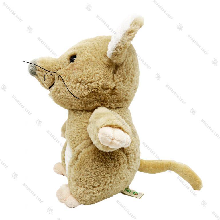 عروسک پولیشی موش تاج دار کرم
