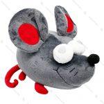 عروسک موش چشم قلبی طوسی