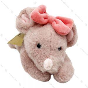 عروسک پولیشی موش خوابیده پاپیون به سر