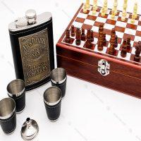 ست شطرنج و فلاسک جیبی طرح جک دنیل