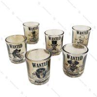ست نوشیدنی کوتاه شفاف مدل Wanted