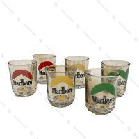 ست نوشیدنی 6 عددی کوتاه مدل Marllboro