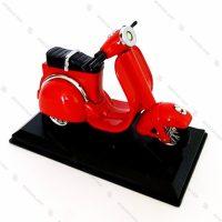 فندک رومیزی طرح موتور سیکلت Vespa قرمز