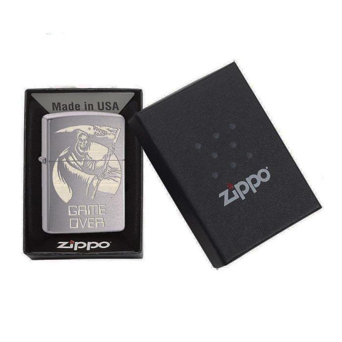 فندک زیپو Zippo مدل Game Over کد ۲۹۶۹۶