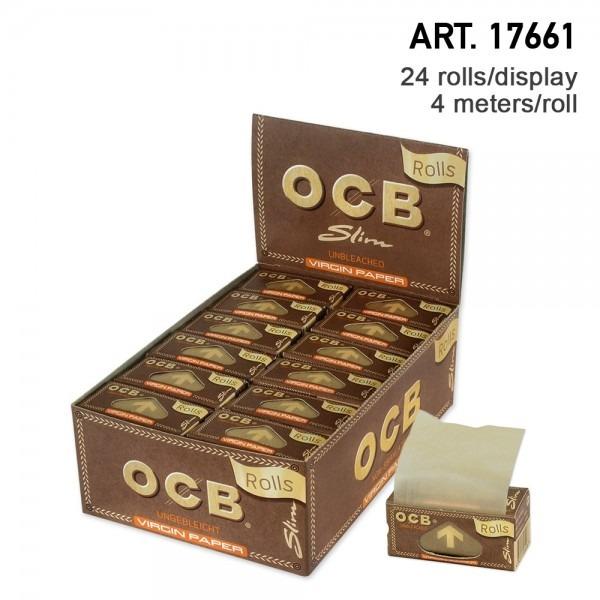 کاغذ سیگار پیچ رول ۴ متری OCB ارگانیک