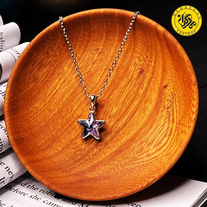 گردنبند نقره زنانه طرح ستاره ۳.۱۴ گرمی