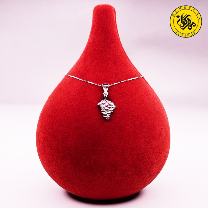 گردنبند نقره زنانه طرح خوشه انگور ۳.۲۲ گرمی