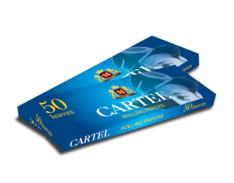 کاغذ سیگار دست پیچ Cartel کوتاه آبی