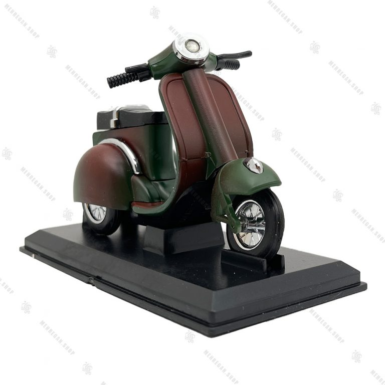فندک رومیزی طرح موتور سیکلت Vespa چریکی