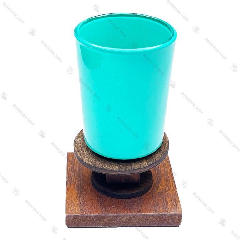 مجموعه ظروف هفت سین چوبی ۱۰ پارچه مدل فیروزه ای