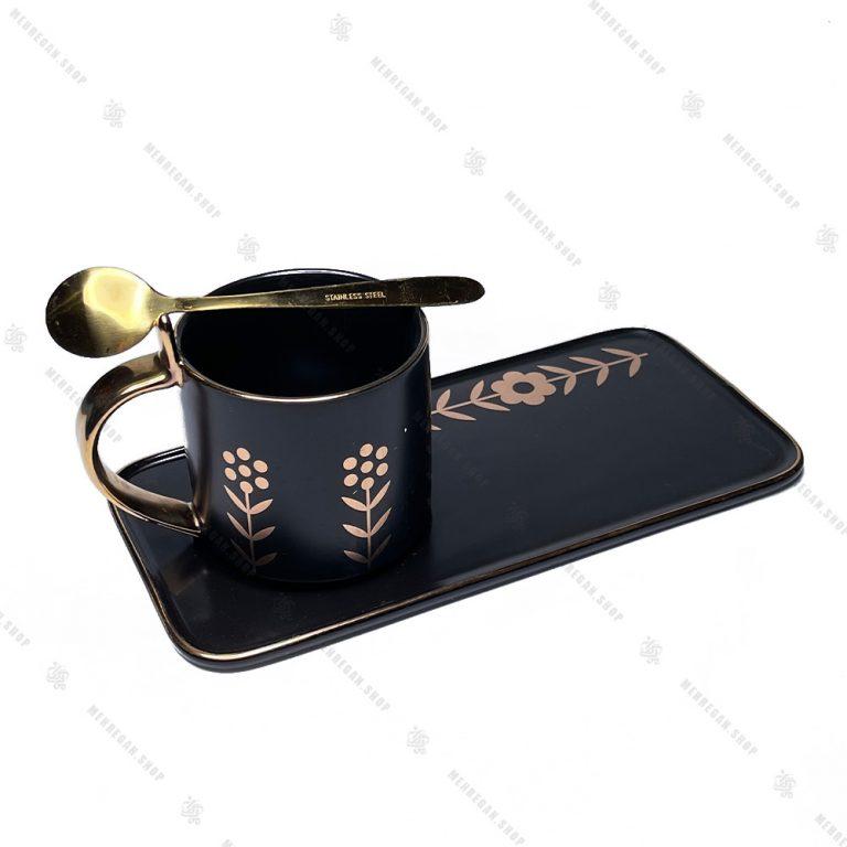 ست سه تیکه قهوه خوری سرامیکی مشکی