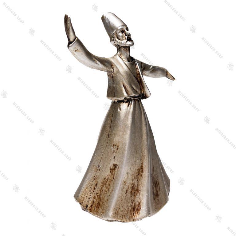 مجسمه رزینی دکوری طرح رقص سماع مدل صوفی نقره ای